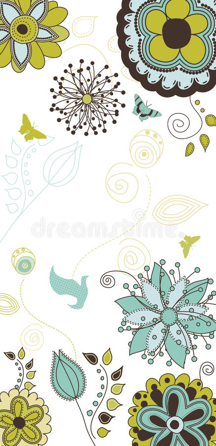 floral κείμενο φύσης ανασκόπησή&s διανυσματική απεικόνιση