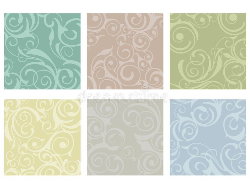 floral κεραμίδια διανυσματική απεικόνιση