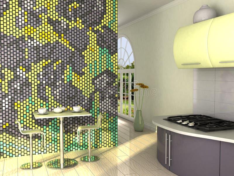 floral κουζίνα στοκ εικόνα