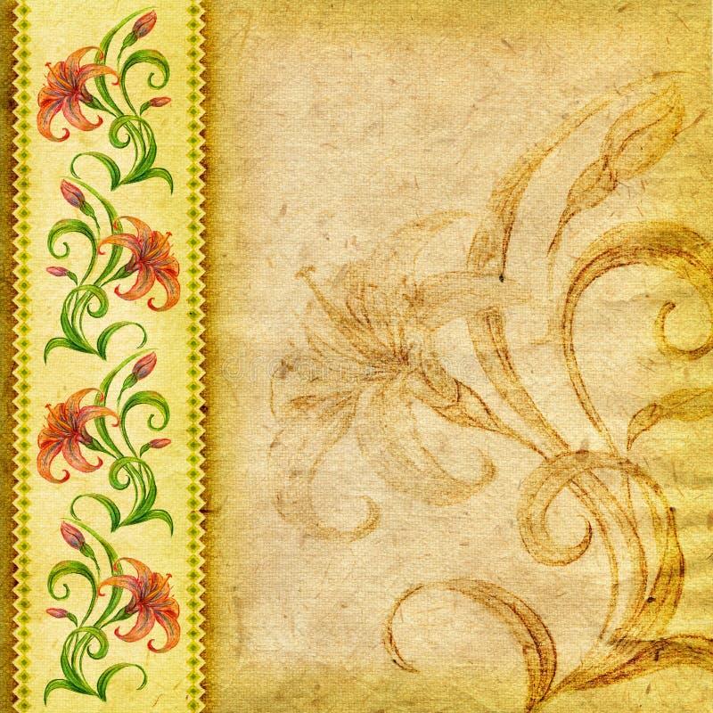 floral κρίνος ανασκόπησης κατασκευασμένος απεικόνιση αποθεμάτων