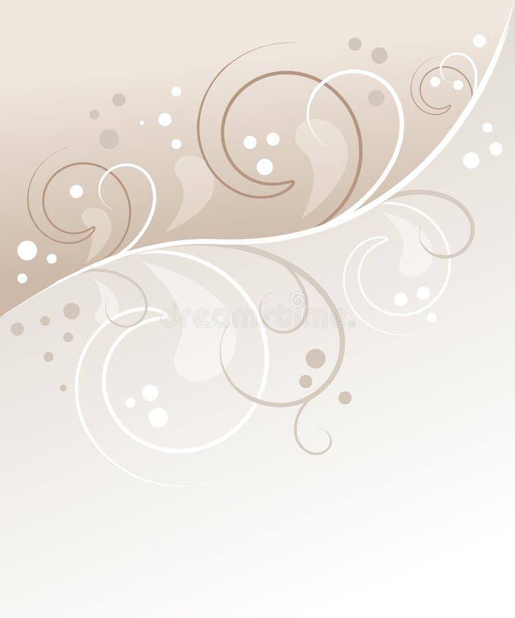 floral κρητιδογραφία ανασκόπη&sig διανυσματική απεικόνιση