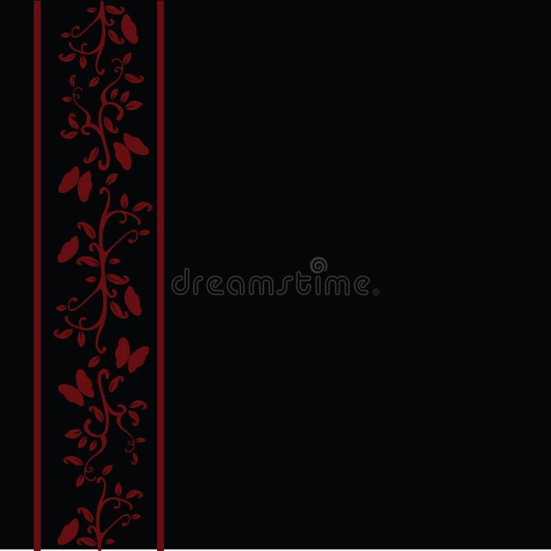 floral κόκκινο ανασκόπησης απεικόνιση αποθεμάτων