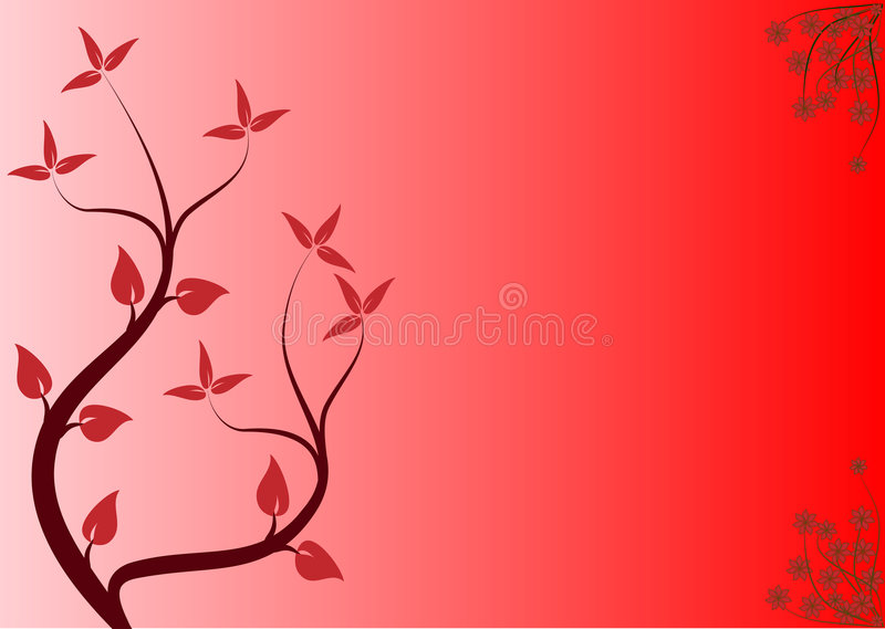 floral κόκκινο ανασκόπησης ελεύθερη απεικόνιση δικαιώματος