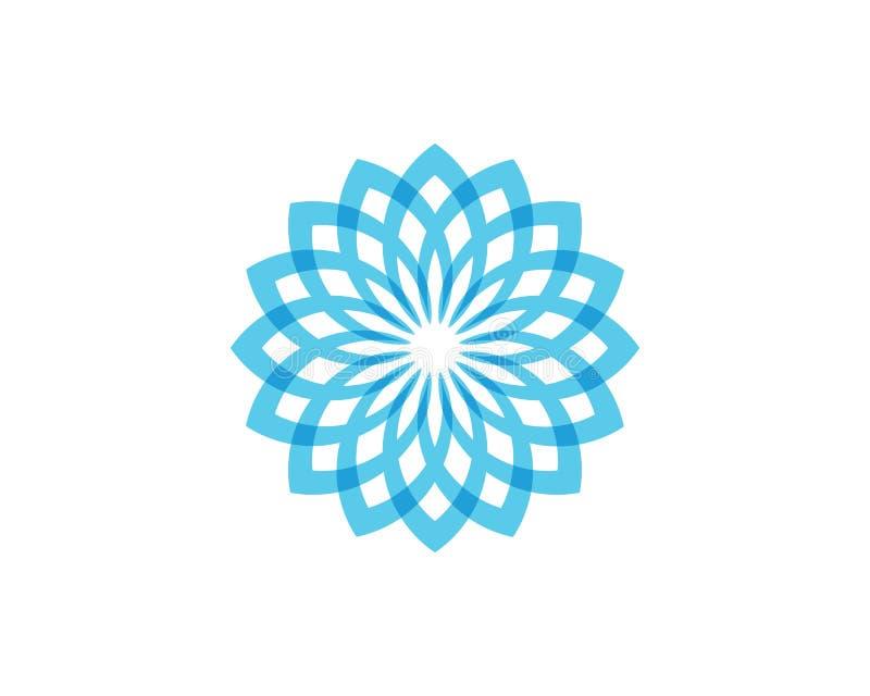 Floral λογότυπο και σύμβολα σχεδίων φύλλων σε ένα άσπρο υπόβαθρο απεικόνιση αποθεμάτων