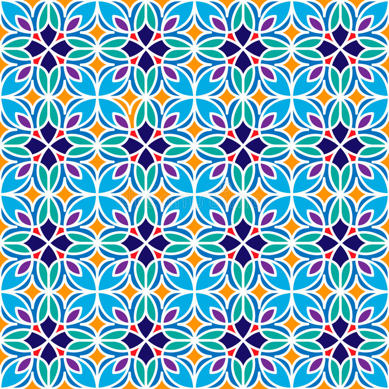 Floral μαροκινό σχέδιο μωσαϊκών στοκ εικόνες