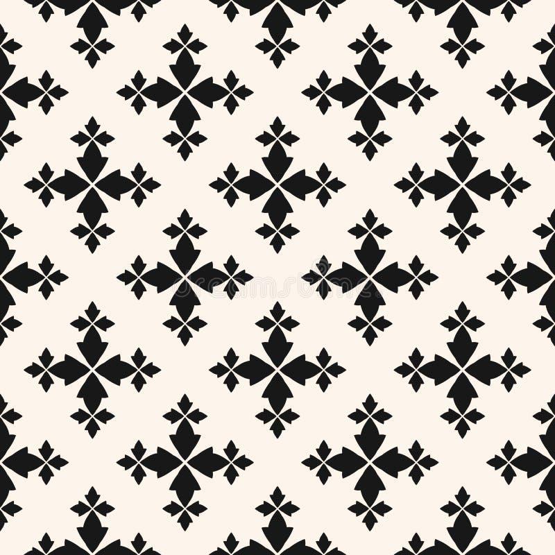 Διανυσματικό floral άνευ ραφής σχέδιο Γραπτό αφηρημένο γεωμετρικό υπόβαθρο ελεύθερη απεικόνιση δικαιώματος