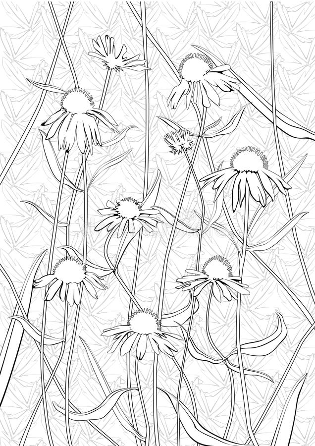 Floral μονοχρωματικό σχέδιο στοκ φωτογραφίες με δικαίωμα ελεύθερης χρήσης