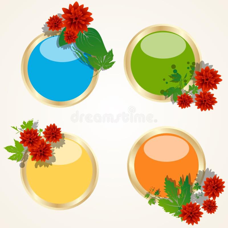 floral μοτίβο κουμπιών απεικόνιση αποθεμάτων