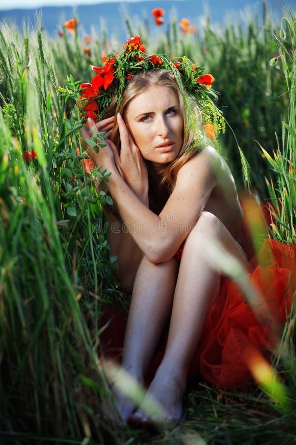 floral νύμφη στοκ φωτογραφία με δικαίωμα ελεύθερης χρήσης