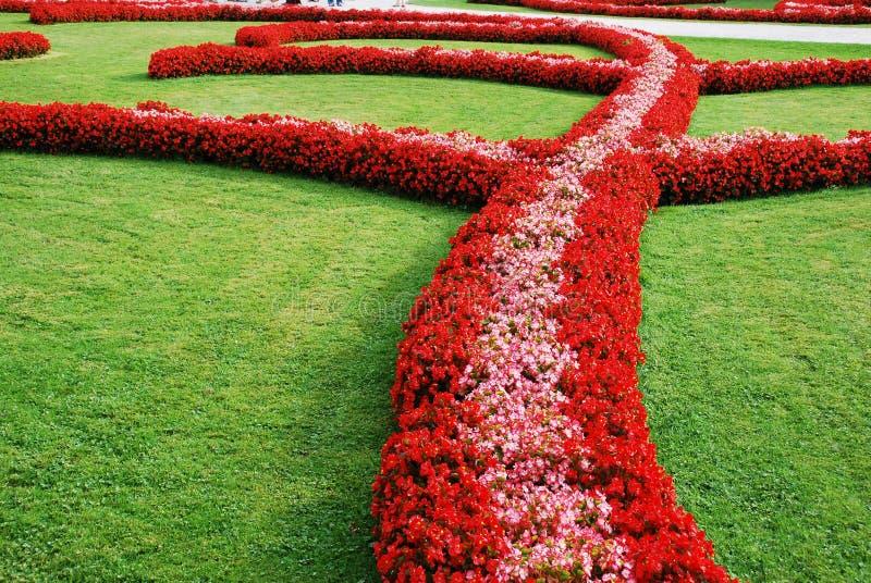 Floral πάρκο στενό στοκ εικόνα με δικαίωμα ελεύθερης χρήσης