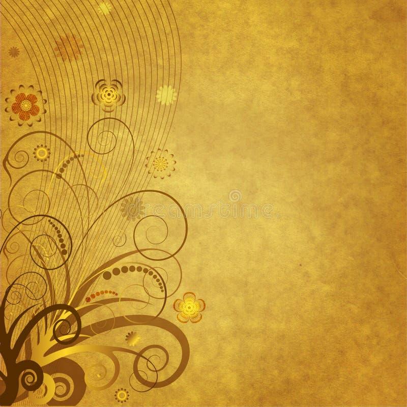 floral παλαιό έγγραφο διακοσμ στοκ φωτογραφία