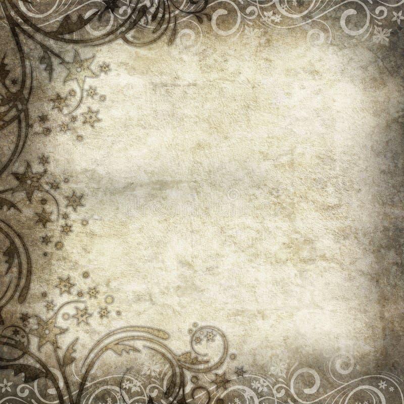 floral παλαιό πρότυπο εγγράφου διανυσματική απεικόνιση