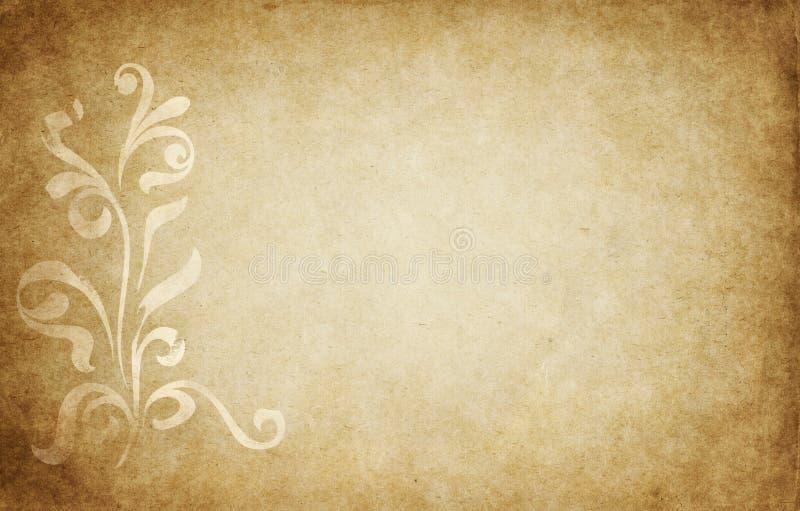 floral περγαμηνή σχεδίου απεικόνιση αποθεμάτων