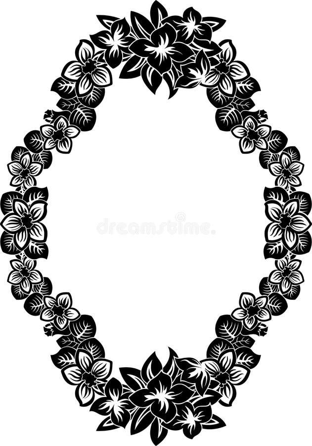 floral πλαίσιο περίκομψο απεικόνιση αποθεμάτων