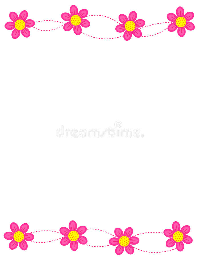 floral πλαίσιο συνόρων ελεύθερη απεικόνιση δικαιώματος