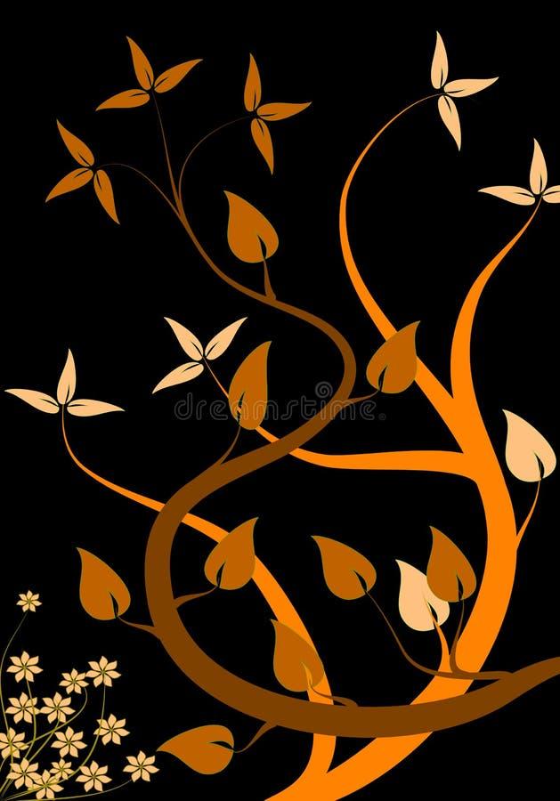 floral πορτοκάλι ανασκόπησης στοκ φωτογραφίες