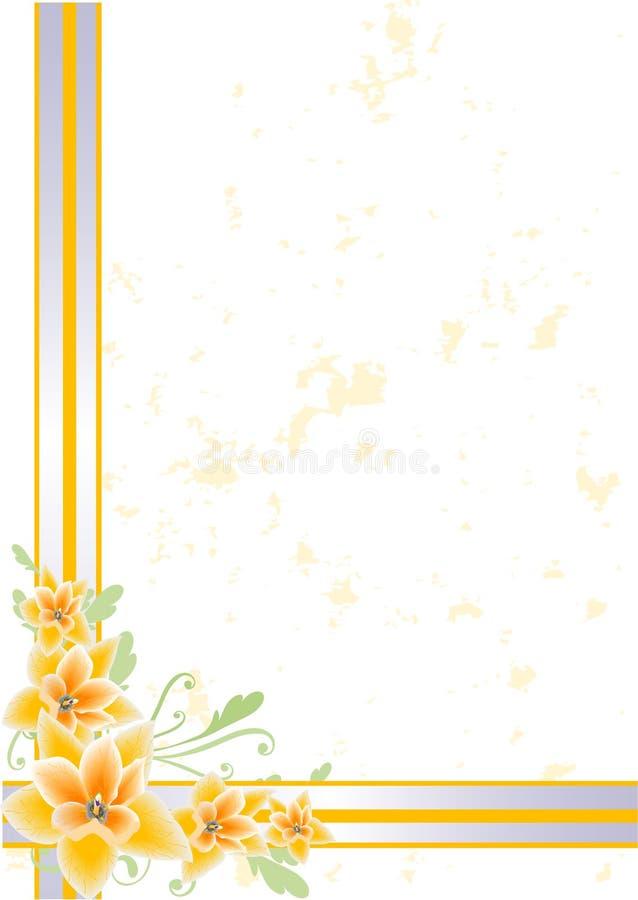 floral πορτοκάλι απεικόνιση αποθεμάτων