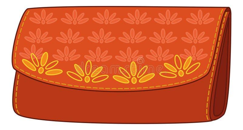 Download Floral πορτοφόλι προτύπων διανυσματική απεικόνιση. εικονογραφία από αγοράστε - 22780180