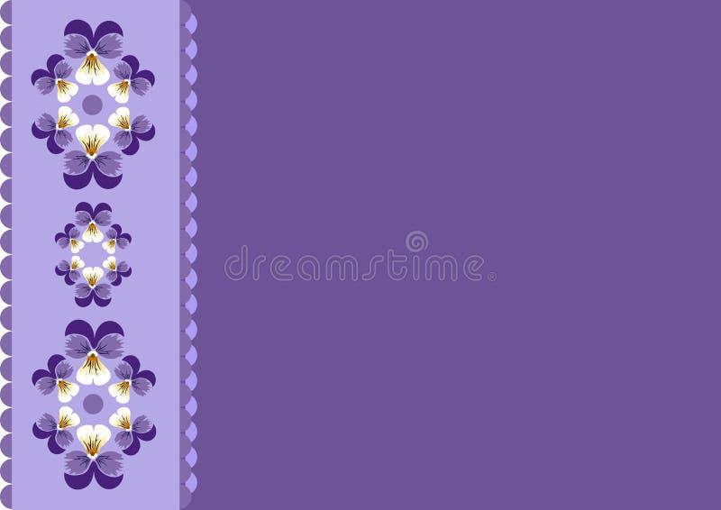 floral πορφυρός τρύγος ανασκόπ&et απεικόνιση αποθεμάτων