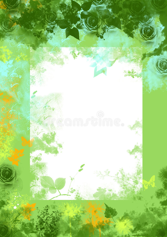 floral πράσινη άνοιξη grunge ανασκόπησ&eta ελεύθερη απεικόνιση δικαιώματος