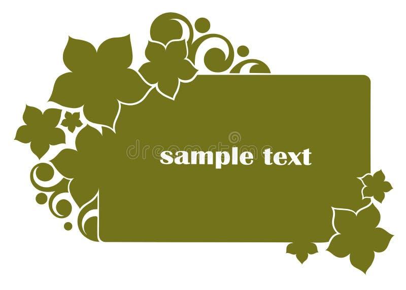 floral πράσινος εμβλημάτων διανυσματική απεικόνιση