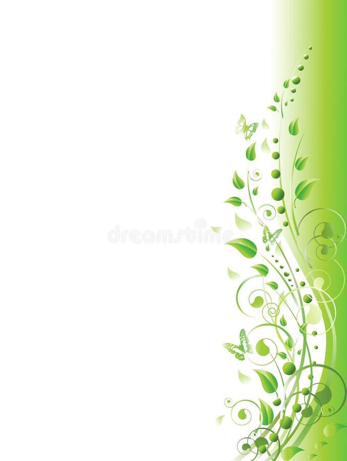 floral πράσινος διανυσματική απεικόνιση