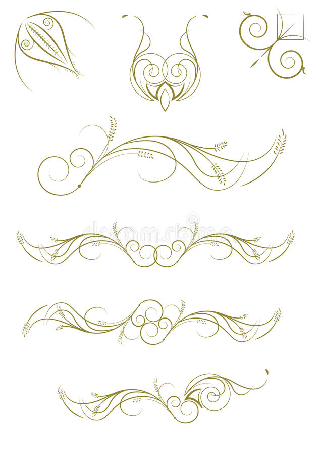 floral πρότυπα που τίθενται απεικόνιση αποθεμάτων