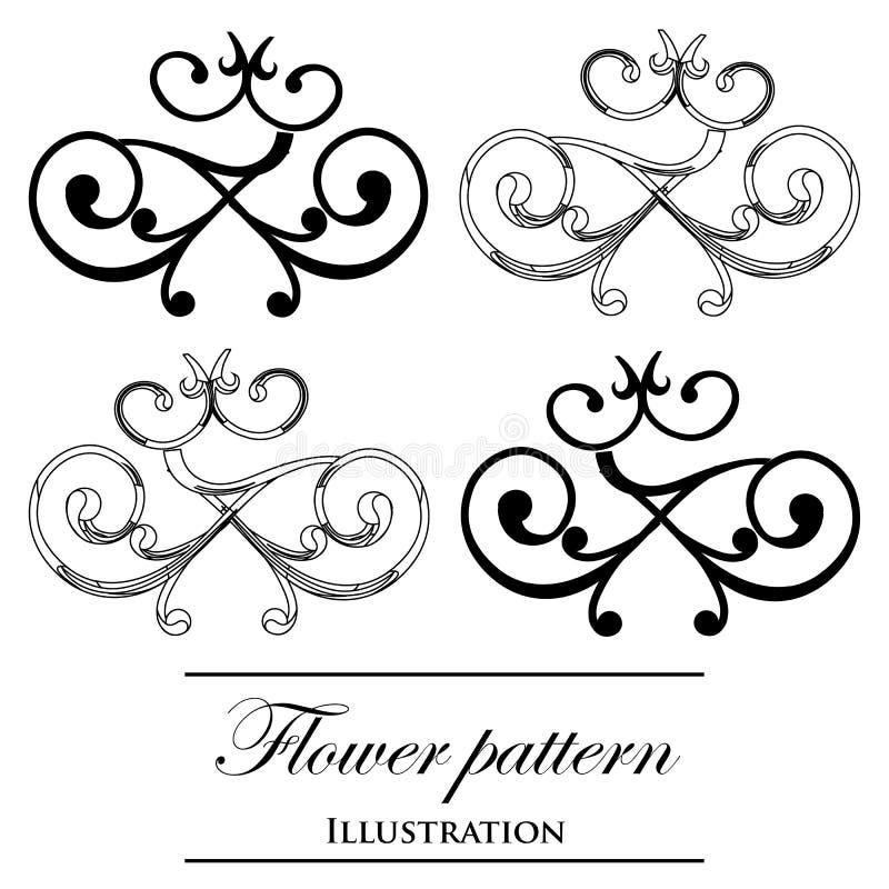 Floral πρότυπα σε μια άσπρη ανασκόπηση διανυσματική απεικόνιση
