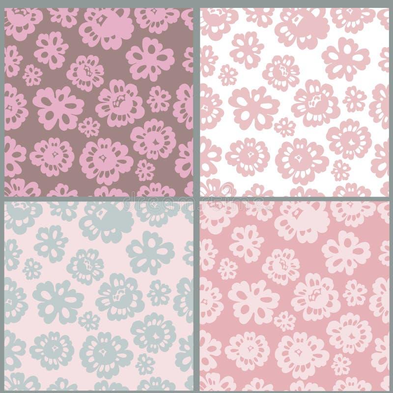 floral πρότυπα συλλογής άνευ ραφής απεικόνιση αποθεμάτων