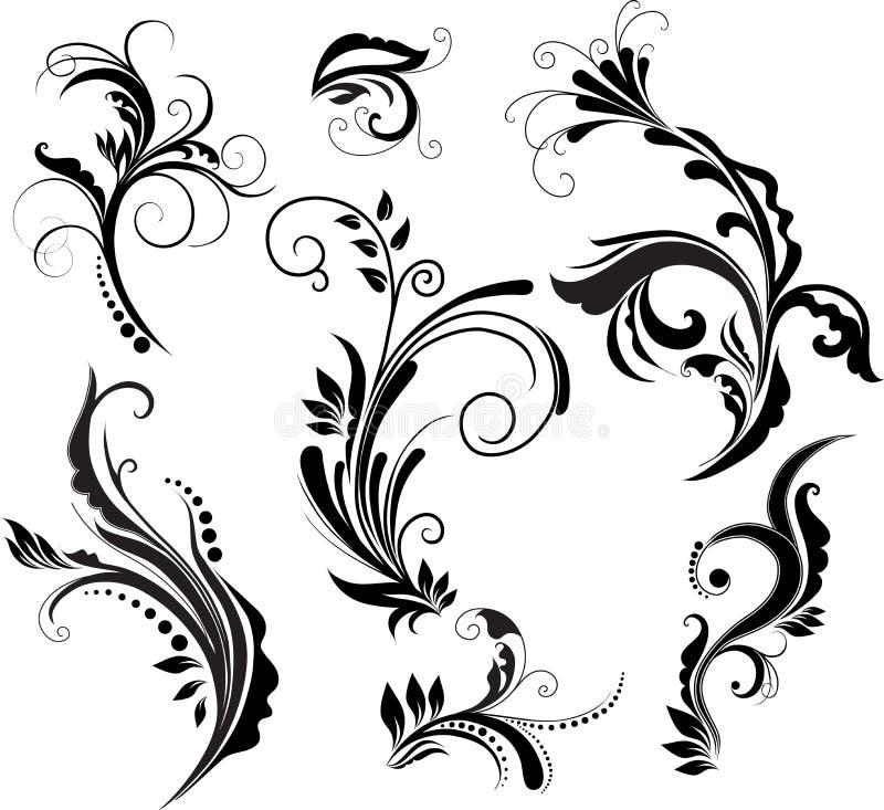 Floral πρότυπα διανυσματική απεικόνιση