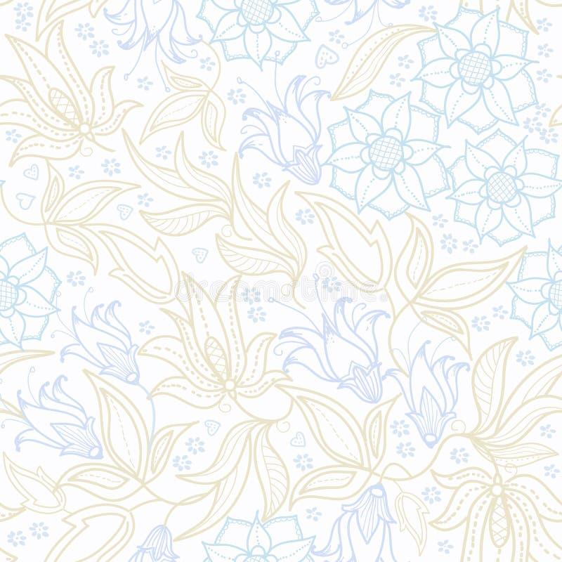 floral πρότυπο άνευ ραφής Επαναλάβετε την τυπωμένη ύλη για το υφαντικό, τυλίγοντας έγγραφο, τοποθέτηση στο κρεβάτι αφηρημένη ανασ απεικόνιση αποθεμάτων