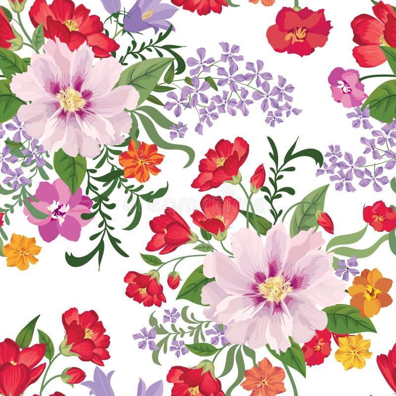 floral πρότυπο άνευ ραφής φως λουλουδιών ανασκόπησης playnig Floral άνευ ραφής κείμενο ελεύθερη απεικόνιση δικαιώματος