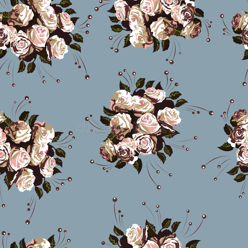 floral πρότυπο 2 άνευ ραφής ελεύθερη απεικόνιση δικαιώματος