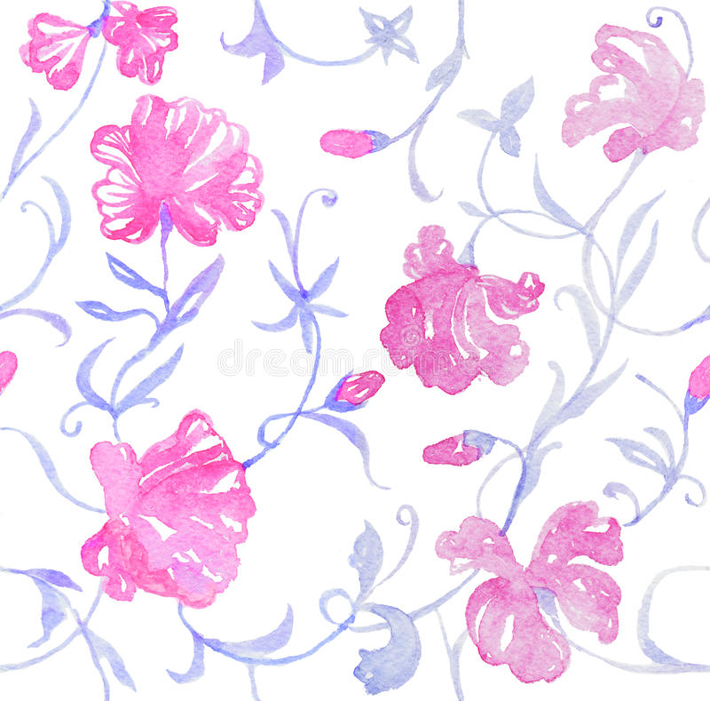 Download Floral πρότυπο άνευ ραφής απεικόνιση αποθεμάτων. εικονογραφία από φύλλο - 62700723