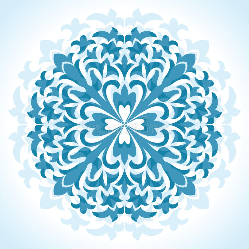 floral πρότυπο ακτινωτό απεικόνιση αποθεμάτων