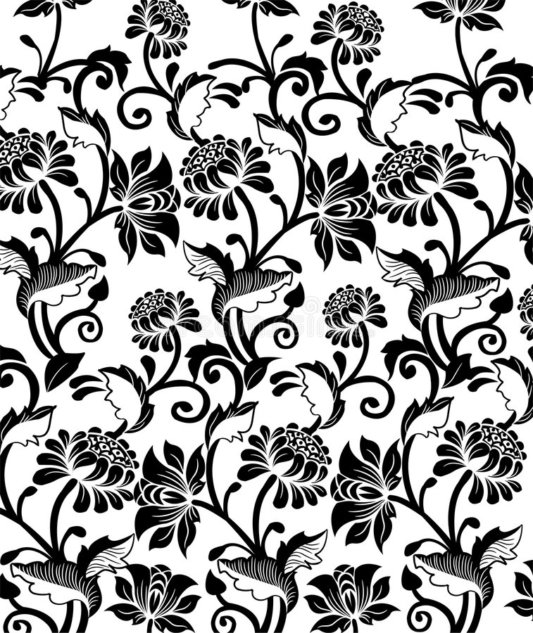 floral πρότυπο ανασκόπησης ελεύθερη απεικόνιση δικαιώματος