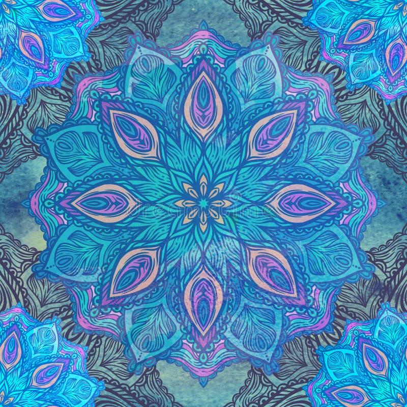 floral πρότυπο διακοσμήσεων άν&eps Στρογγυλό καλειδοσκόπιο στοκ φωτογραφία με δικαίωμα ελεύθερης χρήσης