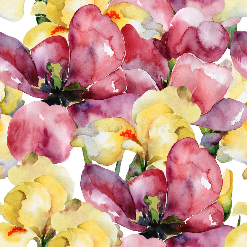 floral πρότυπο καρδιών λουλουδιών απελευθέρωσης πεταλούδων κίτρινο ελεύθερη απεικόνιση δικαιώματος