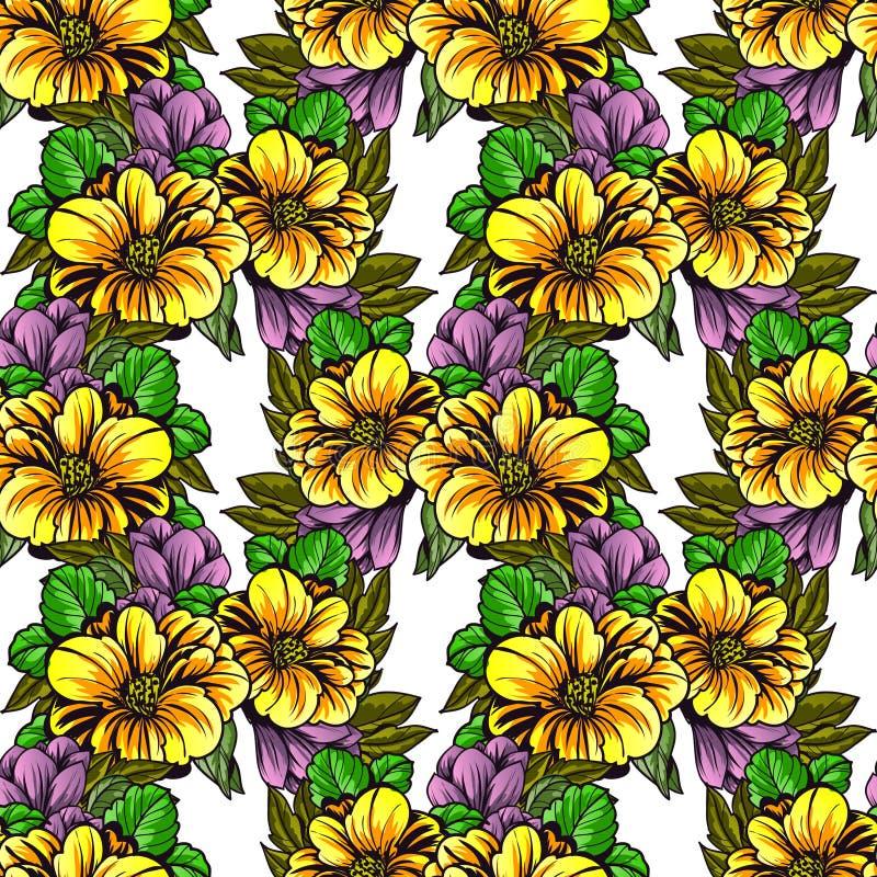 Download Floral πρότυπο καρδιών λουλουδιών απελευθέρωσης πεταλούδων κίτρινο Στοκ Εικόνα - εικόνα από άνοιξη, ύφασμα: 62723685