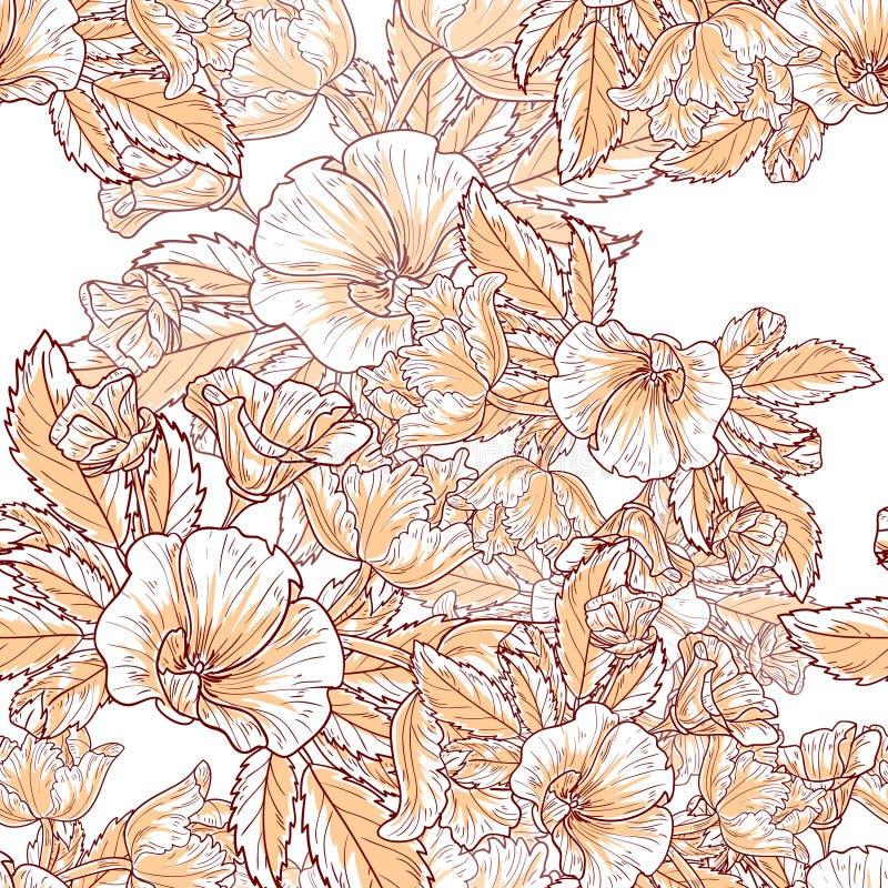 Download Floral πρότυπο καρδιών λουλουδιών απελευθέρωσης πεταλούδων κίτρινο Στοκ Εικόνες - εικόνα από ύφασμα, διακόσμηση: 62723860