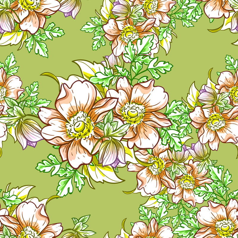 Download Floral πρότυπο καρδιών λουλουδιών απελευθέρωσης πεταλούδων κίτρινο Απεικόνιση αποθεμάτων - εικονογραφία από άνθος, seamless: 62724492
