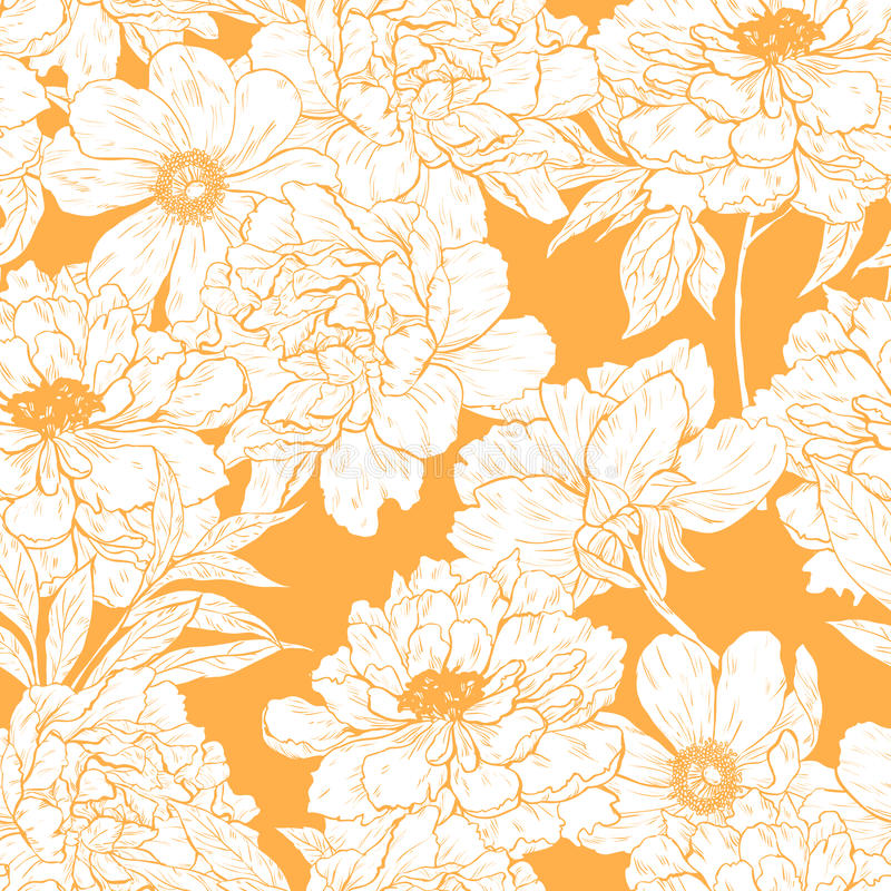 floral πρότυπο λουλουδιών απεικόνιση αποθεμάτων