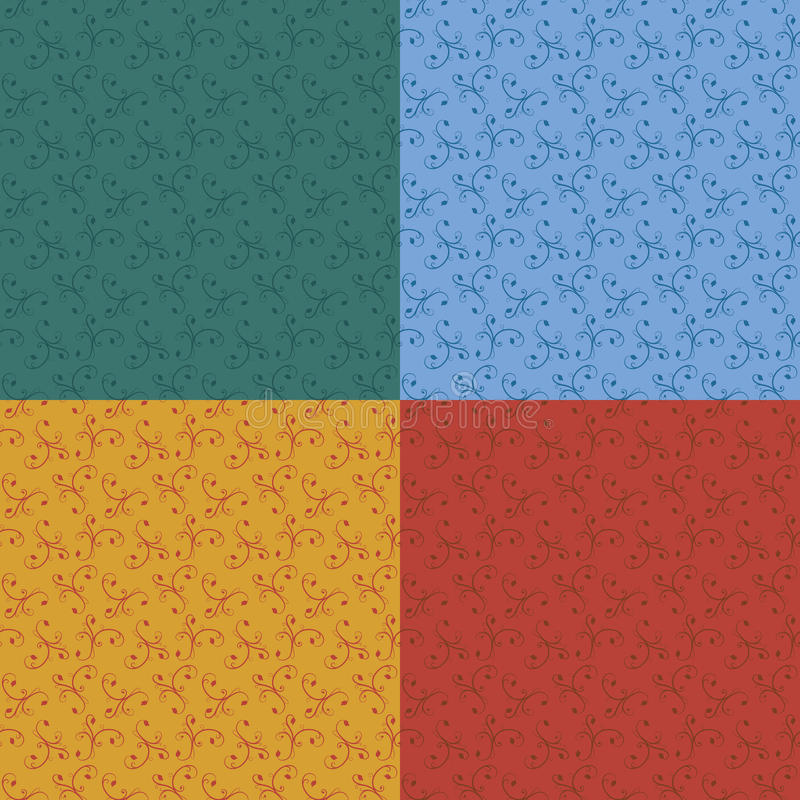 Floral πρότυπο ταπετσαριών ελεύθερη απεικόνιση δικαιώματος