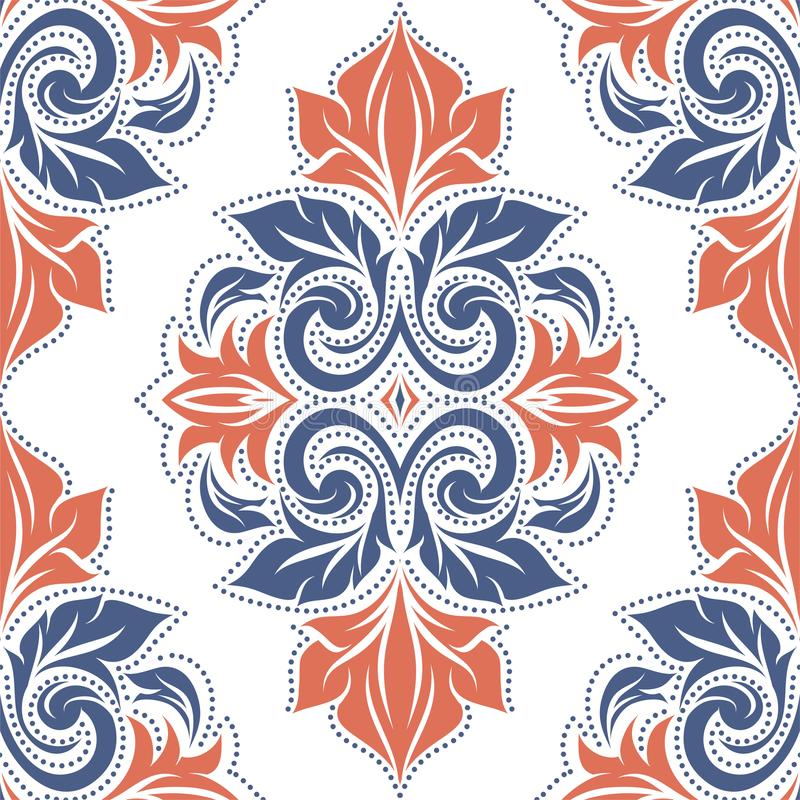 floral πρότυπο φαντασίας άνευ ραφής Τρύγος, στοιχεία του Paisley Διακόσμηση ελεύθερη απεικόνιση δικαιώματος