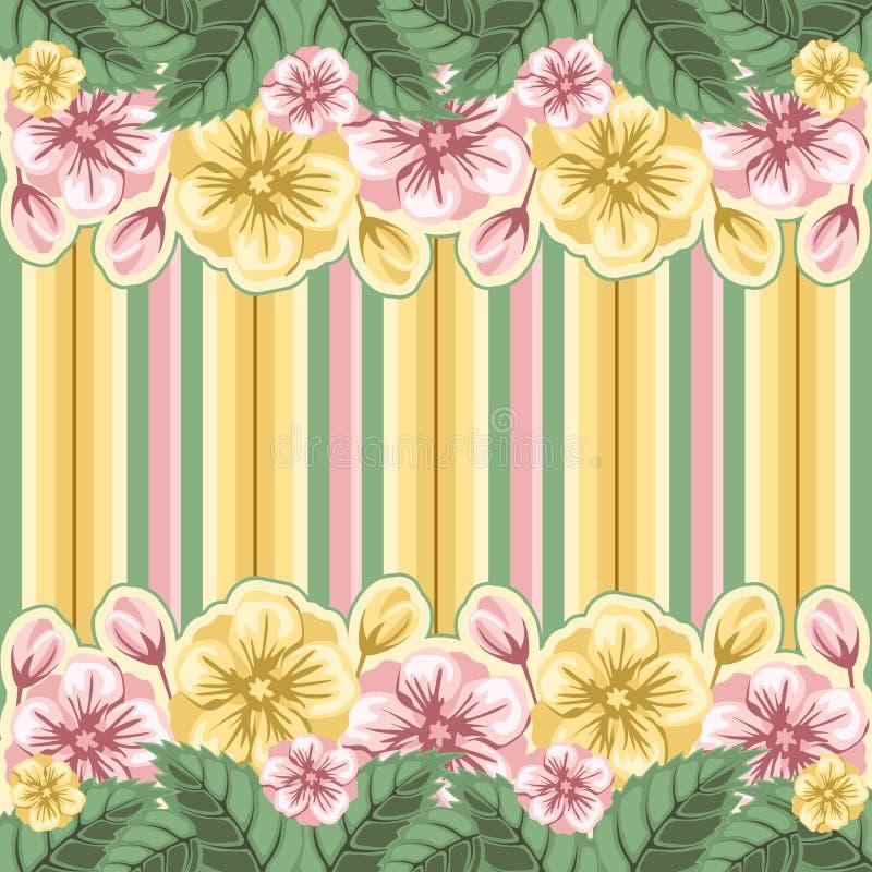 floral ριγωτός ανασκόπησης απεικόνιση αποθεμάτων