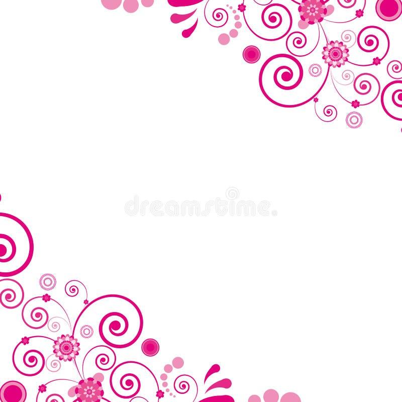 floral ροζ λουλουδιών ανασ&kapp ελεύθερη απεικόνιση δικαιώματος