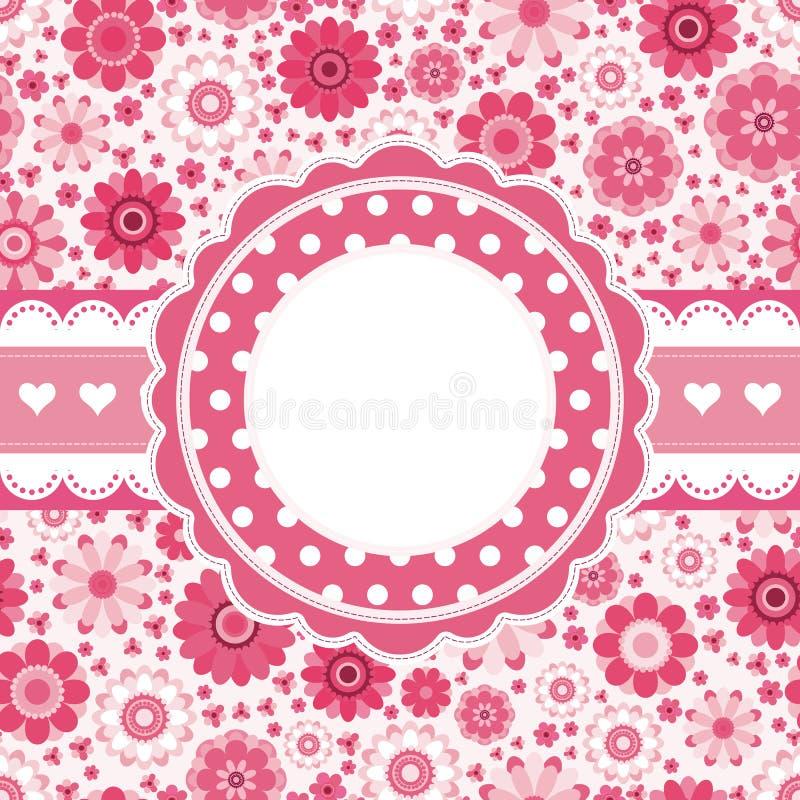 floral ροζ προτύπων καρτών αναδρ& ελεύθερη απεικόνιση δικαιώματος