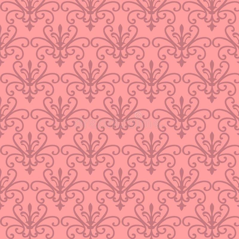 floral ροζ προτύπων απεικόνιση αποθεμάτων