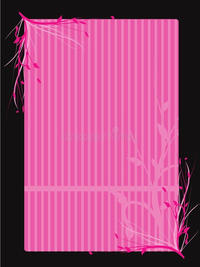 floral ροζ συνόρων ελεύθερη απεικόνιση δικαιώματος