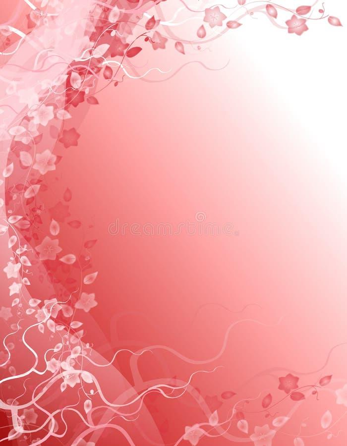 floral ροζ φαντασίας ανασκόπησ& διανυσματική απεικόνιση